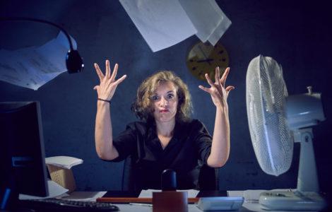 segretaria stressata